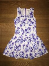 ~ the Childrens Place blue purple white floral fancy dress medium 8