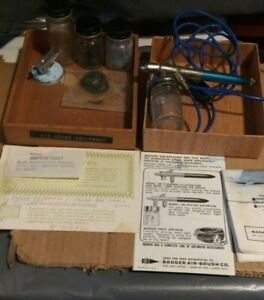 VINTAGE 1969 badger airbrush 200 WITH PAPERWORK COMPLETE ?? UNTESTED
