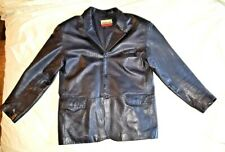 Mens Genuine Leather Sexy Jacket Black BIG POCKET Outerwear Travelers Casual 2XL