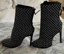 Alaia Black Leather Eyelet Ankle Boots (UK 5.5, EU 38.5)