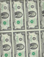"""UNCUT SHEET 2$ 2003  """"B""""  32 NOTE SHEET     UNC"""