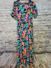 Vintage Diane Von Furstenberg Size Large Color Authority Women's Floral Dress