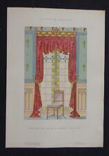 LA TENTURE FRANCAISE 1905 - Fenêtre gothique - décoration tapisserie 70
