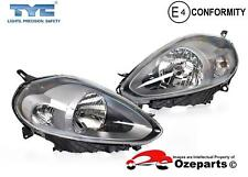 Fiat Punto 2010~Current Pair LH+RH Head Light Lamp (Iron Grey)
