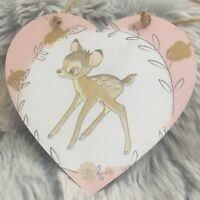Disney Bambi Wooden Hanging Heart Plaque