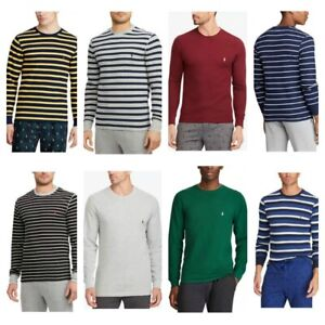 Polo Ralph Lauren Men's Sleep Shirt M L XL 2XL Waffle Knit Thermal Lounge LS Tee