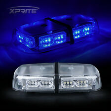 Xprite Emergency Magnetic 36 LED Roof Top Flash Strobe Light BLUE