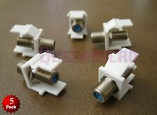 5 Pack- F-Type 3GHz Insert Keystone Coax Coaxial Cable TV Jack Connector Adapter