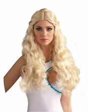 Venus Long Blonde Wavey WIG goddess roman grecian womens Halloween accessory