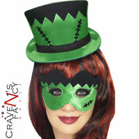 Frankenstein Monster Mini Hat & Eye Mask Halloween Fancy Dress Costume Accessory