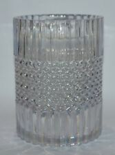 BATH BODY WORKS MIKASA GLASS HURRICANE LARGE 3 WICK CANDLE HOLDER LUMINARY 14.5