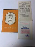 Cunard Line List Of Passangers 1958 RMS Caronia