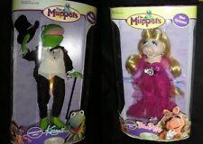The Muppets KERMIT & MISS PIGGY Porcelain Dolls '06 NIB