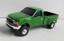 ERTL GREEN FORD F-350 SUPER DUTY DUALLY 5TH WHEEL PICKUP w/TRAILER HITCH rr