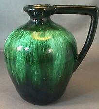 Vintage Flow Green Porcelain Vase Canadian Pottery Ontario Canada Jug