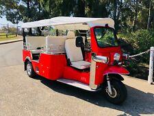 Rare 7 Seat TUK TUK Limo 100% electric,REGISTER# mini moke 3 wheel vw bmw isetta