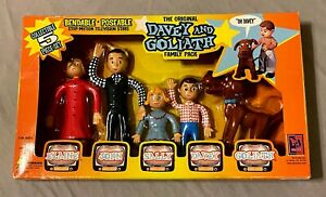 The Original Davey and Goliath Family Pack Bendable Poseable Figures 5 Piece Set