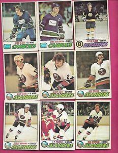 24 X 1977-78 OPC NHL PLAYERS  GOOD / FAIR CARD  (INV# D9670)