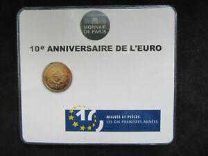 2 Euro Commémorative Coincard Bu France 2012 ; 10 Ans de l'Euro