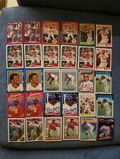 PEDRO GUERRERO baseball card lot (30) Los Angeles Dodgers, St Louis Cardinals