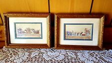 2 Kay Lamb Shannon Pictures with Wooden Frames - Attic Memories - 6 1/4 x 8 1/4