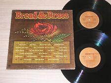 BREAD & ROSES (JACKSON BROWNE, PETE SEEGER, JOAN BAEZ) - 2 LP 33 GIRI FRANCE