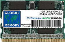 1GB DDR2 400MHz PC2-3200 172-PIN MICRODIMM MEMORY RAM FOR LAPTOPS/NOTEBOOKS