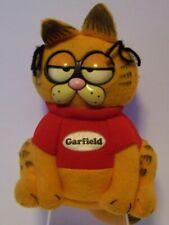 Garfield Pull String Talking Cat Stuffed Eyes Move Mattel Vintage