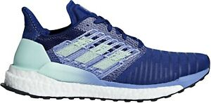 adidas Solar Boost Womens Running Shoes Ladies Cushioned Trainers Sports - Blue
