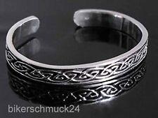 Keltischer Knoten Armband Armreif klassisch Reilief Lady-Größe 925 Silber Damen