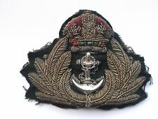 royal navy  officers bullion peaked  cap insignia  badge [ B]