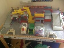 remote control cars and construction site play set