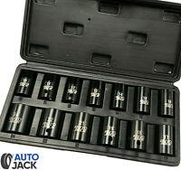 Autojack Impact Wrench Socket Set 13 Pc 1/2 Square Drive Sq Dr Metric 10 - 24mm