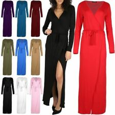Viscose Wrap Dresses for Women with Belt