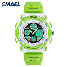 SMAEL Kids Jelly Waterproof Swim Sport Watches Colorful Digital LED Alarm Watch