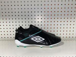Umbro Medusae III Elite FG Mens Leather Soccer Cleats Size 8.5 Black Green