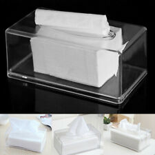 Clear Acrylic Tissue Box Cover Rectangular Napkin Paper Storage Container Holder