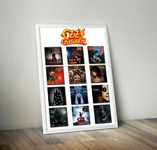 More details for ozzy osbourne studio album covers poster print wall art picture metal