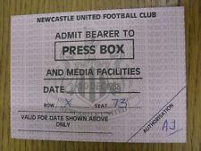 10/12/1988 BIGLIETTO: Newcastle United V Wimbledon [PRESS Box]. proviamo a ispezionare