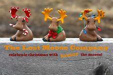 The Lost Moose Company Figurine Candy Cane Wreath Christmas Lights HAMMY