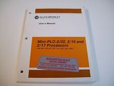 Allen-Bradley 1772-6.5.8 User Manual Processors Mini-Plc-2/02, 2/16 & 2/17