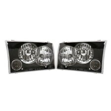 APC Head Lamps w/ Black Projector Fog Lamps 1999-2004 Ford F250/F350 Super Duty