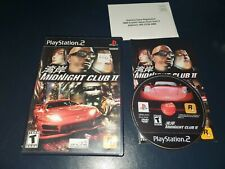 Midnight Club II (Sony PlayStation 2, 2003) PS2 Black Label - Complete