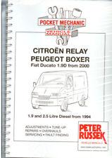 talbot express fiat ducato citroen c25 peugeot j5 workshop repair manual download all 1982 1994 models covered