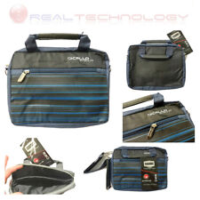 "BORSA PER NOTEBOOK PC PORTATILE TABLET DICALLO 7"" 10,1""BLU NERA A RIGHE PU600260"
