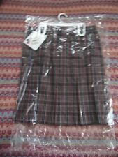 NEW Rifle Kaynee Girls Size 14 1/2 Skirt School Uniform RED Plaid
