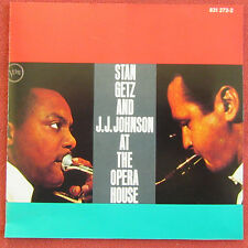 STAN GETZ  AND JJ JOHNSON   CD AT THE OPERA HOUSE