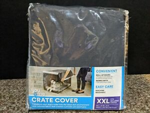 """You & Me Dog Crate Cover XXL Stainless Steel Gray Fits 49""""L x 31""""W x 31""""H NIP"""