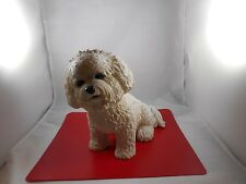 "Danbury Mint Bichon Frise ""Bashful"" Dog Figurine"