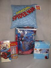 NEW MARVEL THE AMAZING SPIDERMAN 9 PC FULL BED SET PILLOW WINDOW PANELS DECALS